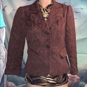 Worthington size 10 Brown embroidered jacket